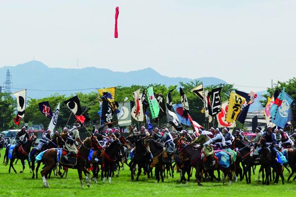 Nomaoi festival, samurai in Fukushima