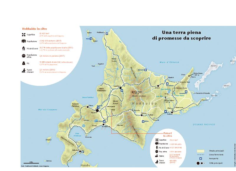 Cartina Giappone In Italiano.Mappa Di Hokkaido Zoom Giappone