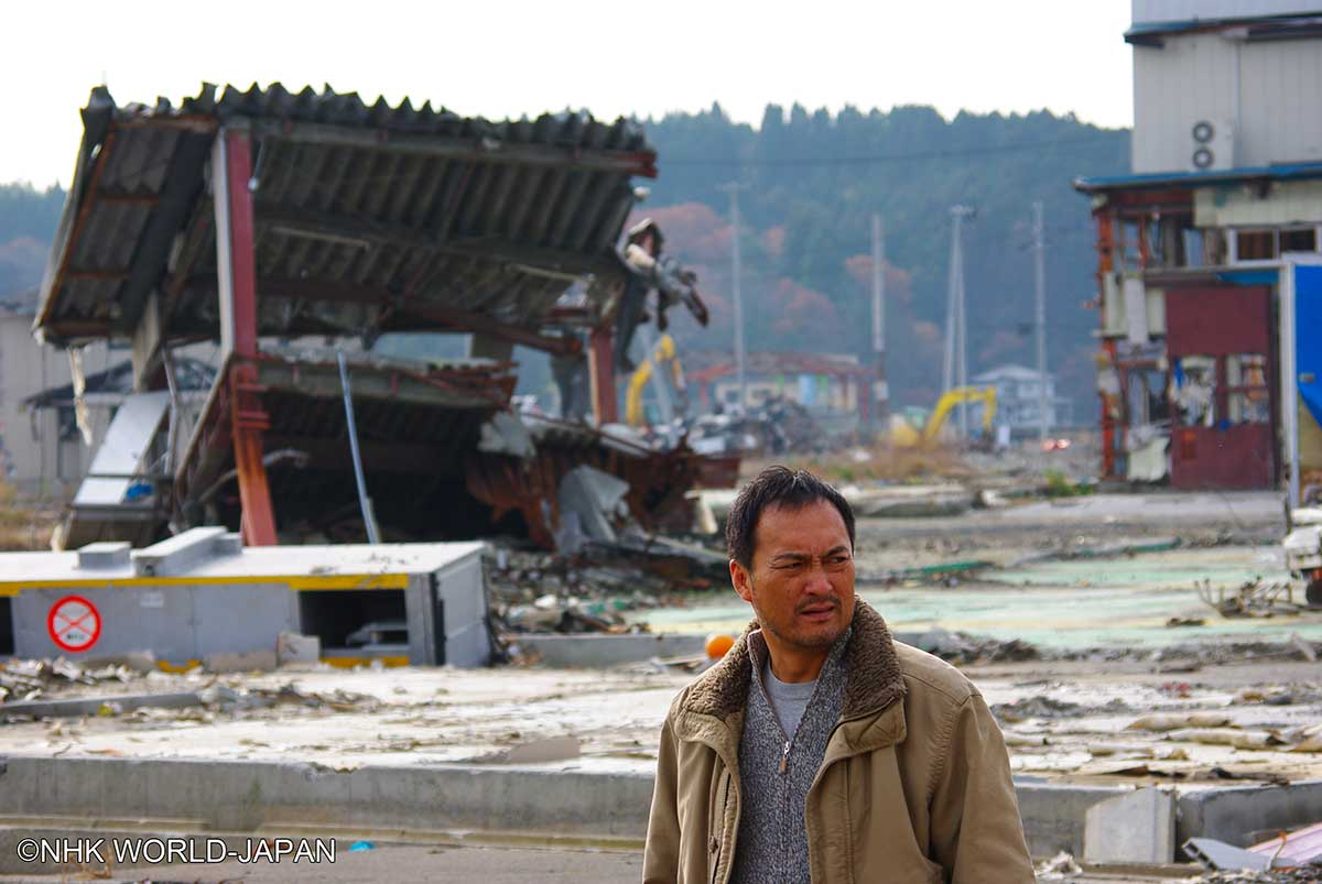 NHK-WORLD-JAPAN_Ken-Watanabe-in-Tohoku-right-after-the-disaster